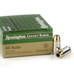 25 Rounds of .45 ACP Ammo by Remington Golden Saber - 185gr JHP