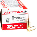150 Rounds of 9mm NATO Ammo by Winchester - 124gr FMJ