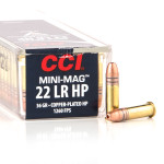 100 Rounds of .22 LR Ammo by CCI Mini-Mag - 36gr CPHP