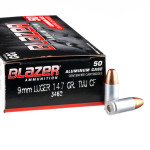 50 Rounds of 9mm Ammo by CCI Blazer Cleanfire - 147gr TMJ
