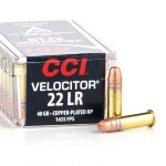 5000 Rounds of .22 LR Ammo by CCI Velocitor - 40gr CPHP