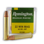 50 Rounds of .22 WMR Ammo by Remington - 40gr JHP