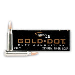 20 Rounds of .223 Rem Ammo by Speer Gold Dot - 75gr SP