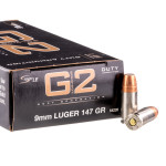 50 Rounds of 9mm Ammo by Speer LE Gold Dot G2 - 147gr JHP
