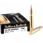400 Rounds of 30-06 Springfield Ammo by Sellier & Bellot - 180gr FMJ
