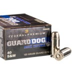 20 Rounds of .40 S&W Ammo by Federal Guard Dog - 135gr EFMJ
