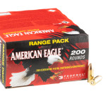 200 Rounds of 9mm Ammo by Federal American Eagle - 115gr FMJ