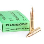 500 Rounds of .300 AAC Blackout Ammo by Sellier & Bellot - 147gr FMJ