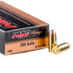 50 Rounds of .380 ACP Ammo by PMC - 90gr FMJ