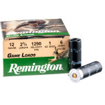 25 Rounds of 12ga Ammo by Remington - 1 ounce #6 shot