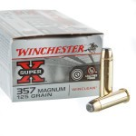 50 Rounds of .357 Mag Ammo by Winchester - 125gr JSP