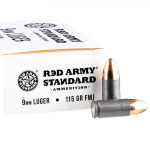 50 Rounds of 9mm Ammo by Red Army Standard - 115gr FMJ