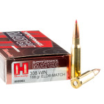 20 Rounds of .308 Win Ammo by Hornady Superformance Match - 168gr ELD Match