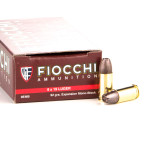 500 Rounds of 9mm Ammo by Fiocchi - 92gr Expansion Monoblock