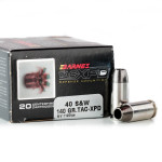 20 Rounds of .40 S&W Ammo by Barnes TAC-XPD - 140gr TAC-XP