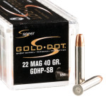 50 Rounds of .22 WMR Ammo by Speer Gold Dot - 40gr JHP