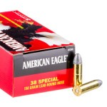 50 Rounds of .38 Spl Ammo by Federal - 158gr LRN