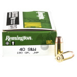 500  Rounds of .40 S&W Ammo by Remington - 180gr JHP