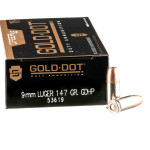 50 Rounds of 9mm Ammo by Speer Gold Dot LE - 147gr JHP