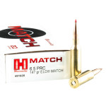 20 Rounds of 6.5 PRC Ammo by Hornady Match - 147gr ELD Match
