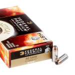 50 Rounds of .40 S&W Ammo by Federal - 155gr JHP HST LE