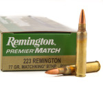 200 Rounds of .223 Ammo by Remington Match - 77gr HPBT