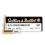 20 Rounds of 6.5 Creedmoor Ammo by Sellier & Bellot - 131gr SP
