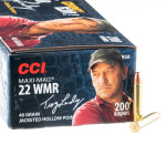 2000 Rounds of .22 WMR Ammo by CCI Maxi-Mag Troy Landry Special Edition - 40gr JHP