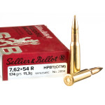 20 Rounds of 7.62x54r Ammo by Sellier & Bellot - 174gr HPBT