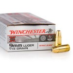 500  Rounds of 9mm Ammo by Winchester - 115gr BEB