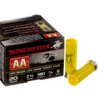 "25 Rounds of 20ga 2-3/4"" Ammo by Winchester AA Low Recoil Target - 7/8 ounce #8 shot"