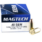 1000 Rounds of .40 S&W Ammo by Magtech - 165gr FMJ FN