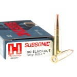 200 Rounds of .300 AAC Blackout Ammo by Hornady Subsonic - 190gr Polymer Tipped