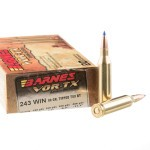 20 Rounds of .243 Win Ammo by Barnes - 80gr TTSX