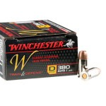 20 Rounds of .380 ACP Ammo by Winchester - 95gr JHP