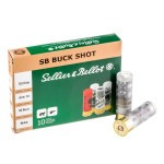 10 Rounds of 12ga Ammo by Sellier & Bellot -  00 Buck 1-1/4 oz