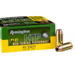20 Rounds of .40 S&W Ammo by Remington HTP - 155gr JHP