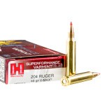 20 Rounds of .204 Ruger Ammo by Hornady Superformance - 40gr V-MAX