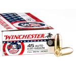 500 Rounds of 45 ACP Ammo by Winchester USA Target Pack - 230gr FMJ