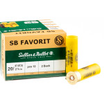 25 Rounds of 20 Gauge Ammo by Sellier & Bellot - 12 Pellet #2 Buckshot