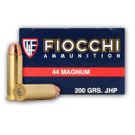 500 Rounds of .44 Mag Ammo by Fiocchi - 200gr SJHP