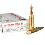 500 Rounds of 7.62x51 Ammo by Winchester - 149gr FMJ M80