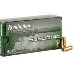 50 Rounds of .45 ACP Ammo by Remington Subsonic - 230gr FNEB