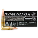 20 Rounds of .300 AAC Blackout Ammo by Winchester Super Suppressed - 200gr Open Tip
