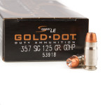 50 Rounds of .357 SIG Ammo by Speer Gold Dot LE - 125gr JHP