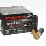 "25 Rounds of 12ga 3"" Ammo by Winchester Drylok Super Steel Magnum - 1 1/4 ounce #3 Shot"