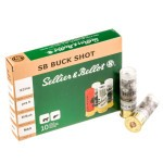 250 Rounds of 12ga 9P Ammo by Sellier & Bellot -  00 Buck