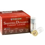 25 Rounds of 12ga Ammo by Fiocchi Target Shooting Dynamics - 1 ounce #7 1/2 shot