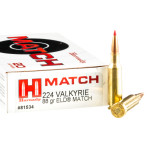 200 Rounds of .224 Valkyrie Ammo by Hornady - 88gr ELD Match