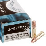 50 Rounds of .22 LR Ammo by Federal - 38gr CPHP